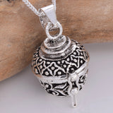 P743 - Silver prayer box pendant