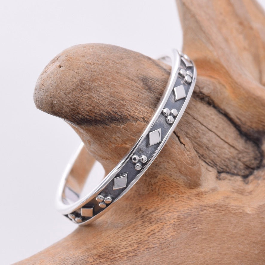 R160 - Silver thin band stacking ring