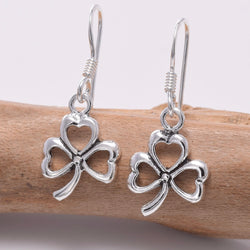 E657 - 925 Silver Clover leaf earrings