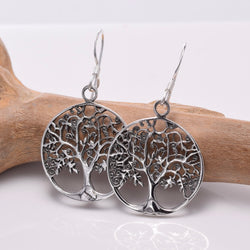 E650 - 925 Silver Tree Of Life earrings
