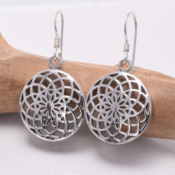 E651 - 925 Silver Mandala earrings