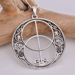 P391 Chalice Well 925 Silver Pendant