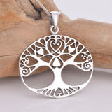 Java designs silver oval tree of life pendant