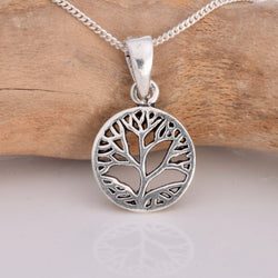 P577 - Lotus flower disc pendant