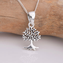 Java Designs silver tiny tree of life pendant
