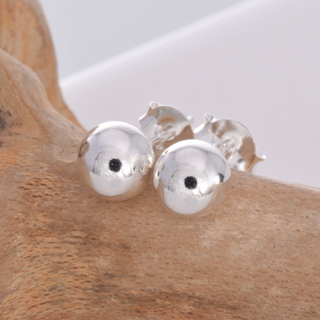 Silver ball stud 6mm
