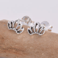 S492 - Lotus flower stud earrings
