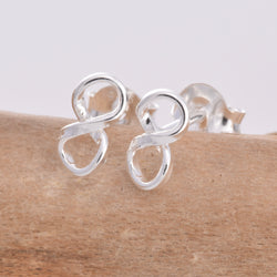 S493 - Infinity loop stud earrings
