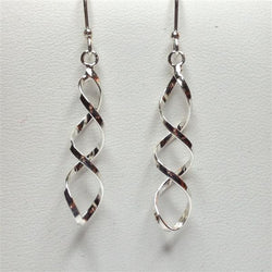 E069 - Double Twist Wire Earrings