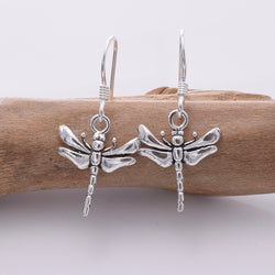 E676 - 925 Silver dragonfly earrings