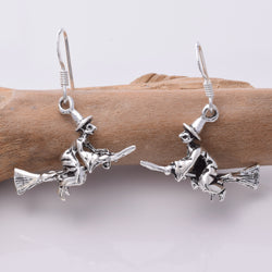 E149 - Witch On Broomstick Earrings