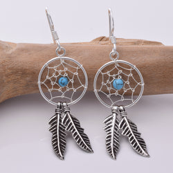E161 - Silver Dreamcatcher Earrings