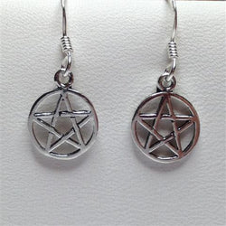 E269 - Silver Small Pentagram Earrings