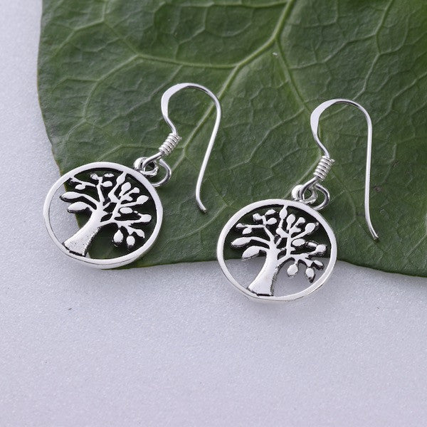 E451 - Sterling silver Tree of life earrings