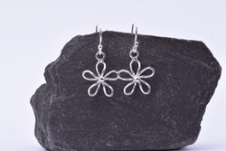 E452 daisy design 925 silver earrings
