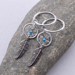 E463 - Dreamcatcher and sleeper earrings