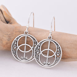 E494 - Chalice Well design drop earrings