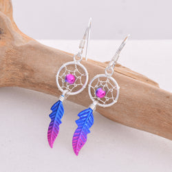 E496 10mm dreamcatcher earrings