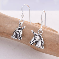 E498 - SALE - Unicorn drop earrings