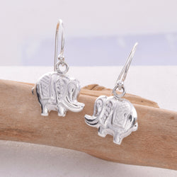 E499 - Elephant drop earrings