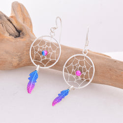 E500 - Dreamcatcher drop earrings