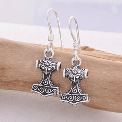 E501 - Thors Hammer drop earrings