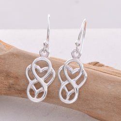 E515 - Celtic knot work drop earrings