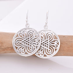 E522 - Mandala design disc earrings