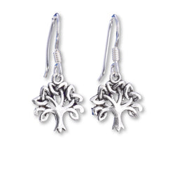 E525 - Small celtic tree of life drop earrings