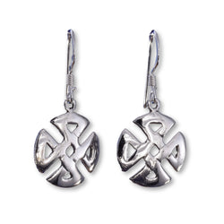 E532 - Wide Celtic knot earrings