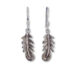 E560 - SALE - Oak leaf drop earrings