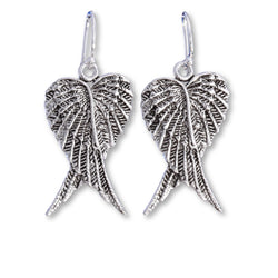 E564 - Long folded angel wing pendant