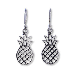 E575 - Silver pineapple earrings