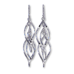 E579 - Double twist wire drop earrings