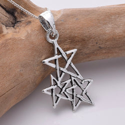 P809 - 925 Silver Constellation star pendant