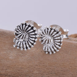 S588 - Amonite style bead stud earring