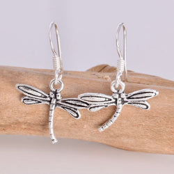 E356 -dragonfly drop earrings