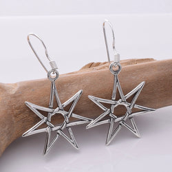 E665 - 925 Silver Fairy Star earrings