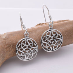 E663 - 925 Silver celtic knotwork earrings