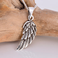 P491 - Angel wing 925 silver pendant