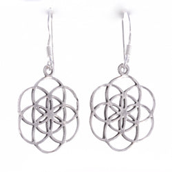 E591 - Flower of life earrings