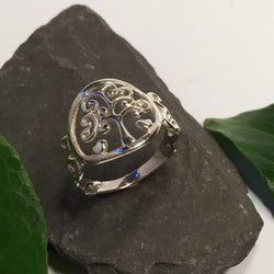 R100 - Tree Of Life design silver Ring