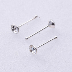 NS008 - Nose Stud 2.5mm Crystal Stone Ball Back