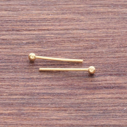 NS013 Gold plated nose stud (Box of 20pcs) 1.5mm Ball
