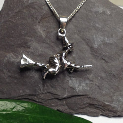 P156 - Witch & Broomstick Pendant