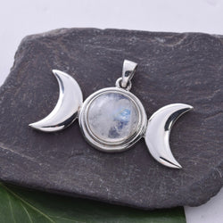 P494 - Triple Moon Pendant
