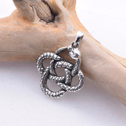 P527 - 925 Silver Coiled snake pendant
