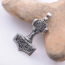 P529 - 925 Silver Thors Hammer pendant