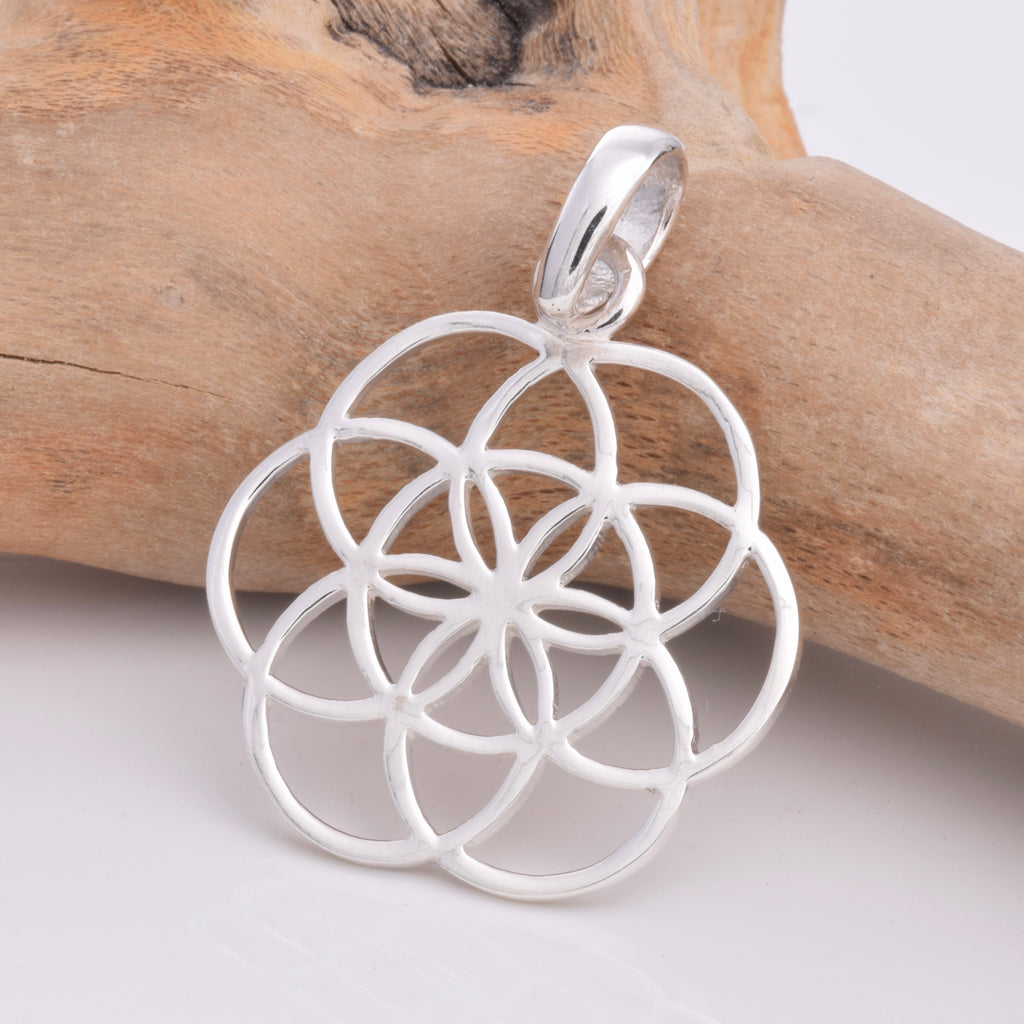 P569 Silver Seed Of Life pendant