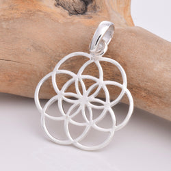 P569 Silver Flower Of Life pendant